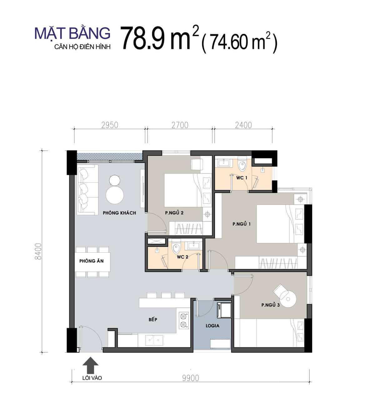 thiet ke can ho 789 m2 3 phong ngu picity 2020 - PICITY HIGH PARK QUẬN 12