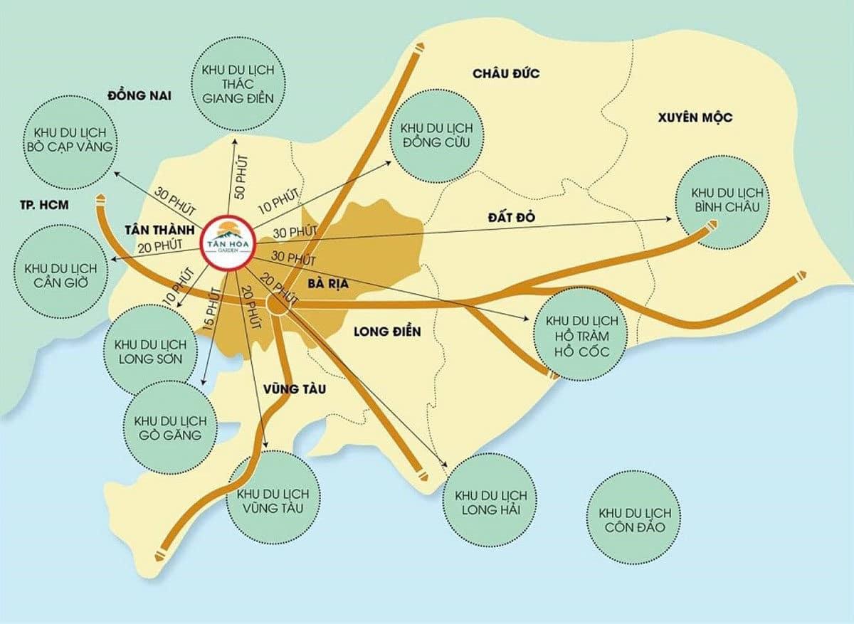 Tiện ích kết nối khu vực Dự án Tân Hòa - Phú Mỹ - Bà Rịa Vũng Tàu
