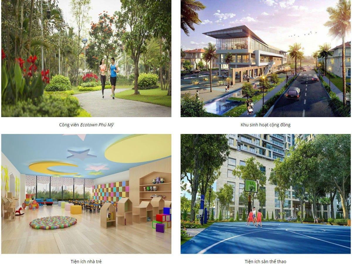 Tiện ích nội khu Dự án Eco Town Phú Mỹ