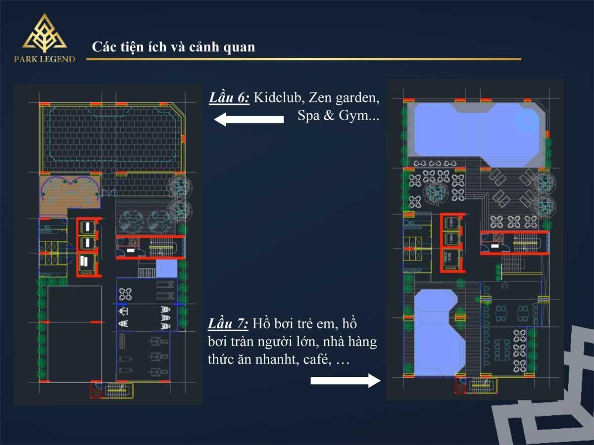 Tiện ích tầng 6 & 7 Dự án Căn hộ Park Legend Tân Bình