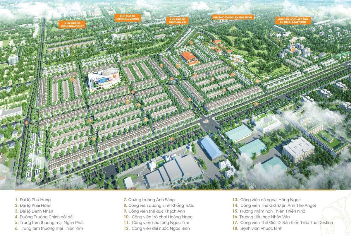 Tổng thể Dự án Khu đô thị Cát Tường Phú Hưng