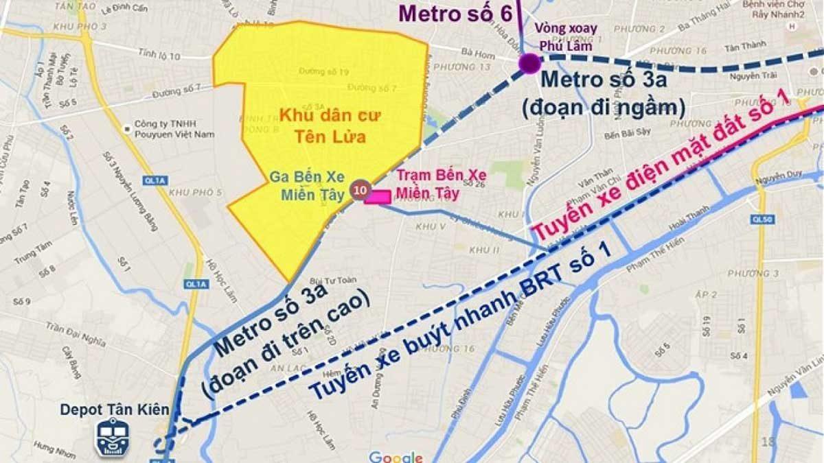 tuyen metro so 3a ben thanh tan kien - DỰ ÁN CĂN HỘ VICTORIA GARDEN BÌNH CHÁNH
