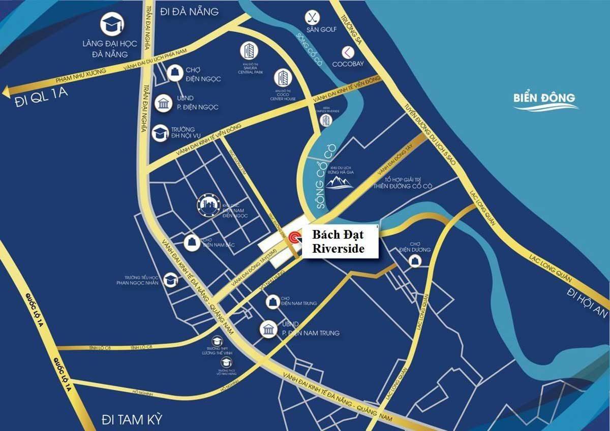 Vị trí Dự án Bách Đạt Riverside Đà Nẵng