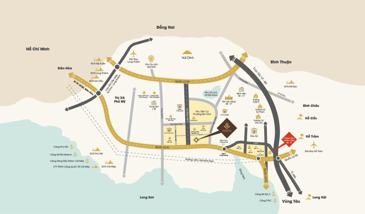 vi tri du an felix city ba ria - DỰ ÁN FELIX CITY BÀ RỊA