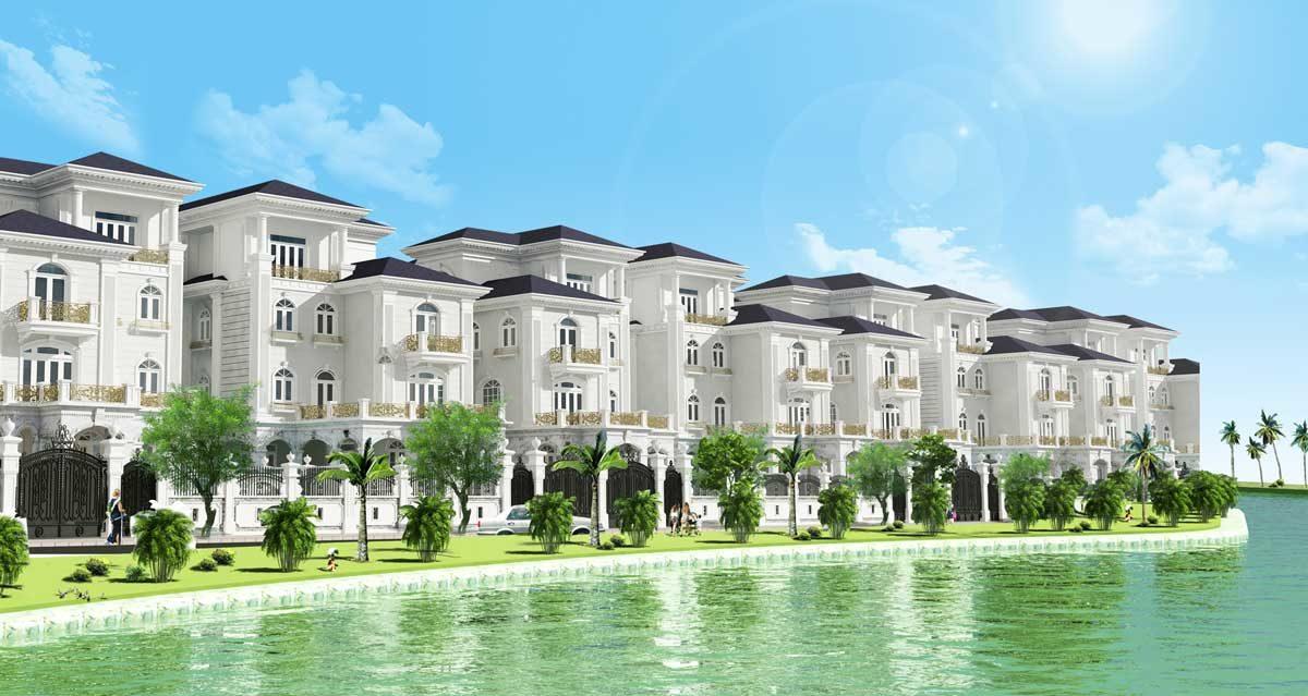 Biệt thự ven sông Phú Hoàng Gia