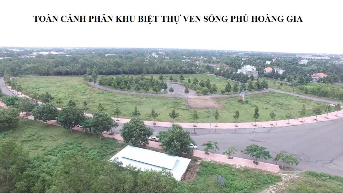 Hình ảnh thực tế khu đất Dự án Biệt thự ven sông Phú Hoàng Gia