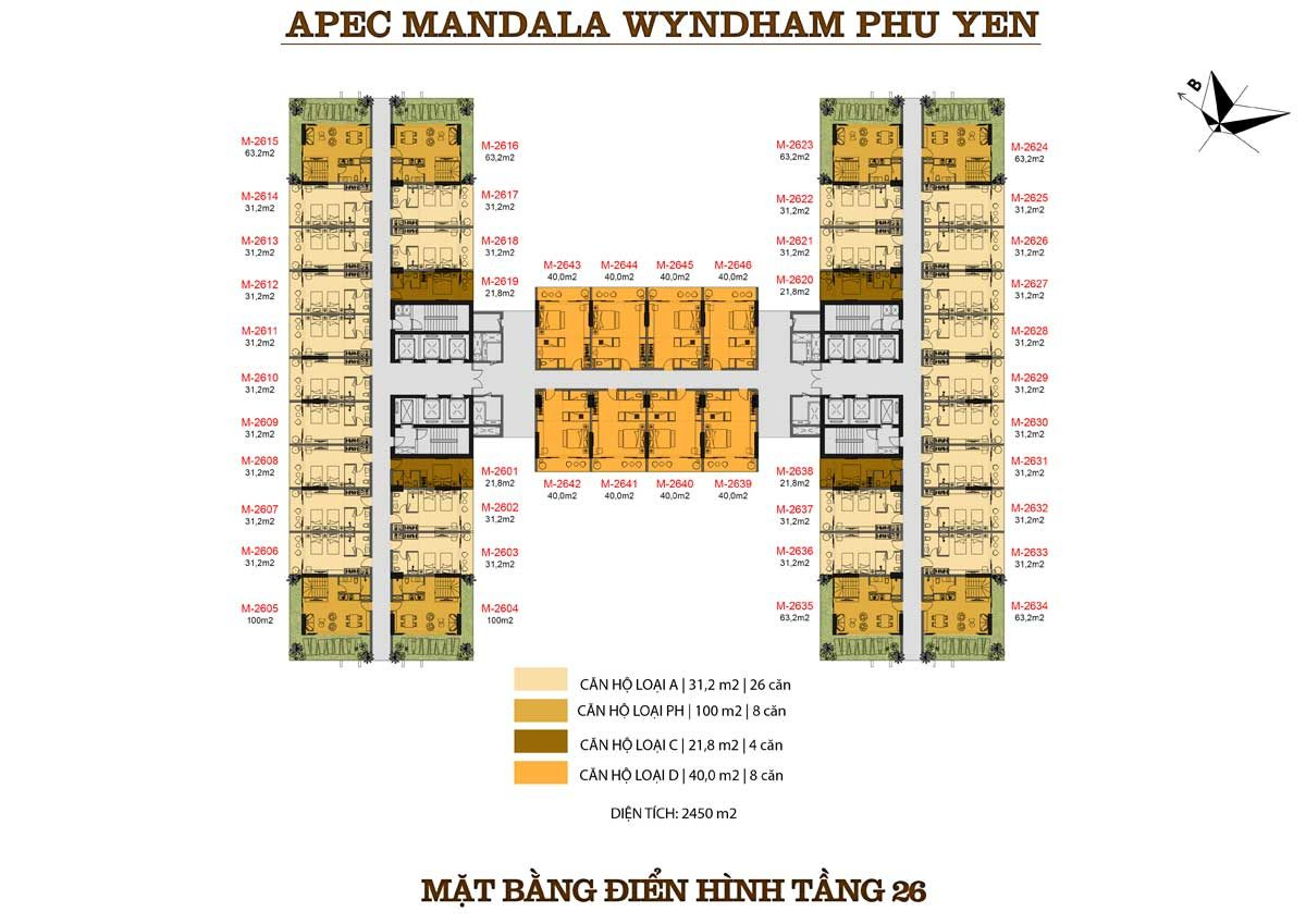 mat-bang-dien-hinh-tang-26-can-ho-apec-mandala-wyndham