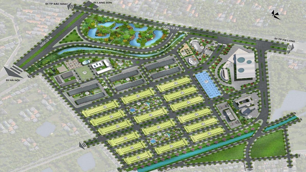 Mặt bằng phân lô Dự án Khu đô thị Him Lam Green Park Bắc Ninh