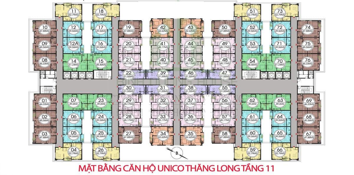 mat bang tang 11 unico thang long - DỰ ÁN CĂN HỘ UNICO THĂNG LONG BÌNH DƯƠNG