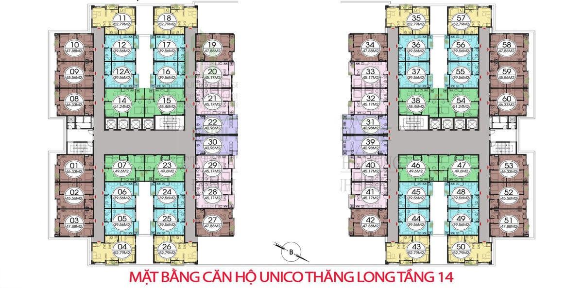 mat bang tang 14 can ho unico thang long - DỰ ÁN CĂN HỘ UNICO THĂNG LONG BÌNH DƯƠNG