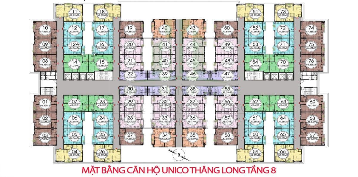 mat bang tang 8 can ho unico thang long - DỰ ÁN CĂN HỘ UNICO THĂNG LONG BÌNH DƯƠNG