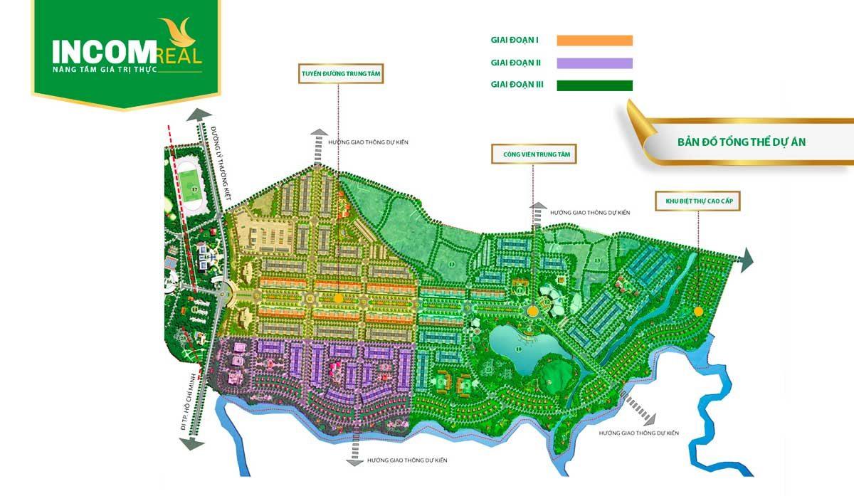 Mặt bằng tổng thể Dự án Khu đô thị Phú Mỹ Quảng Ngãi