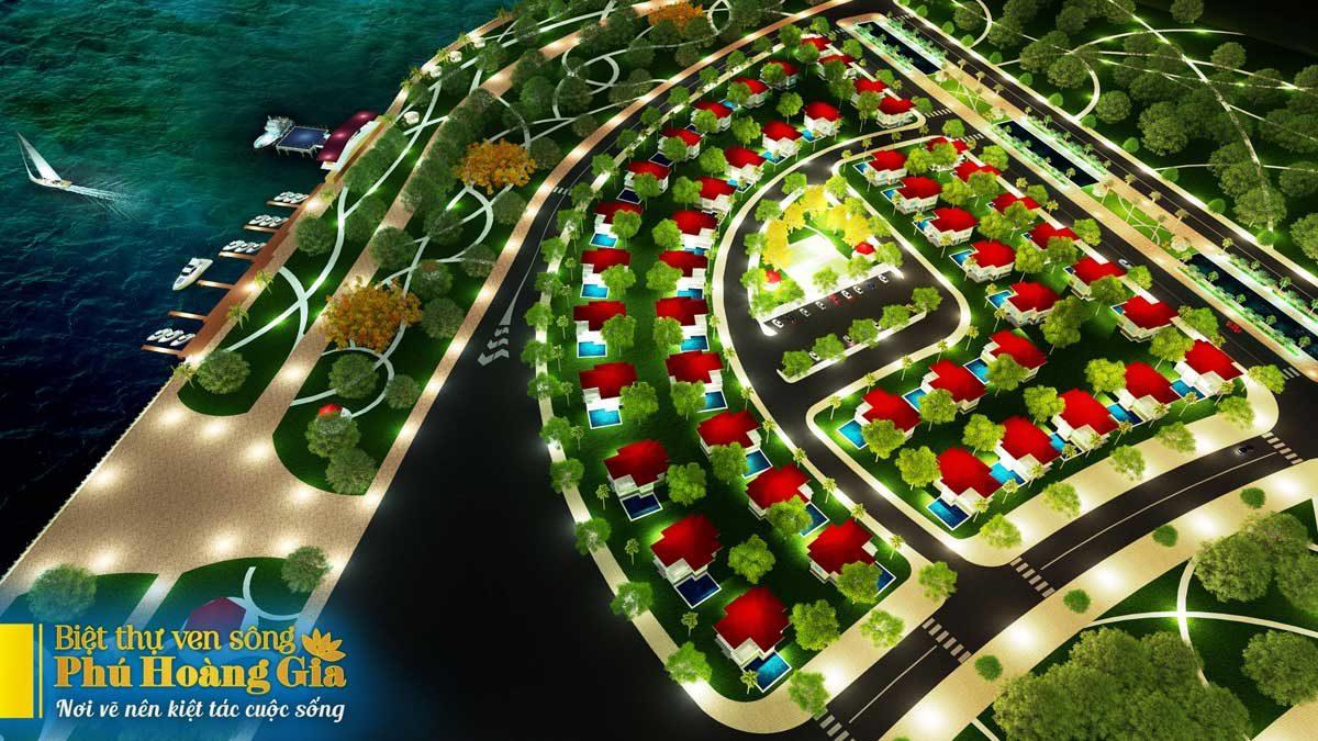 Toàn cảnh Dự án Biệt thự ven sông Phú Hoàng Gia