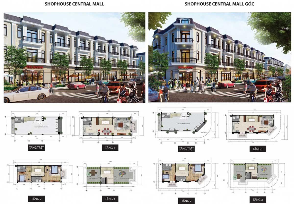 Thiết kế Khu nhà phố Shophouse tại Thắng Lợi Central Hill