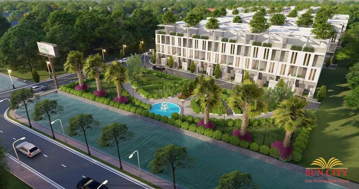 Công viên trước Dự án Sun City Võ Văn Bích Củ Chi