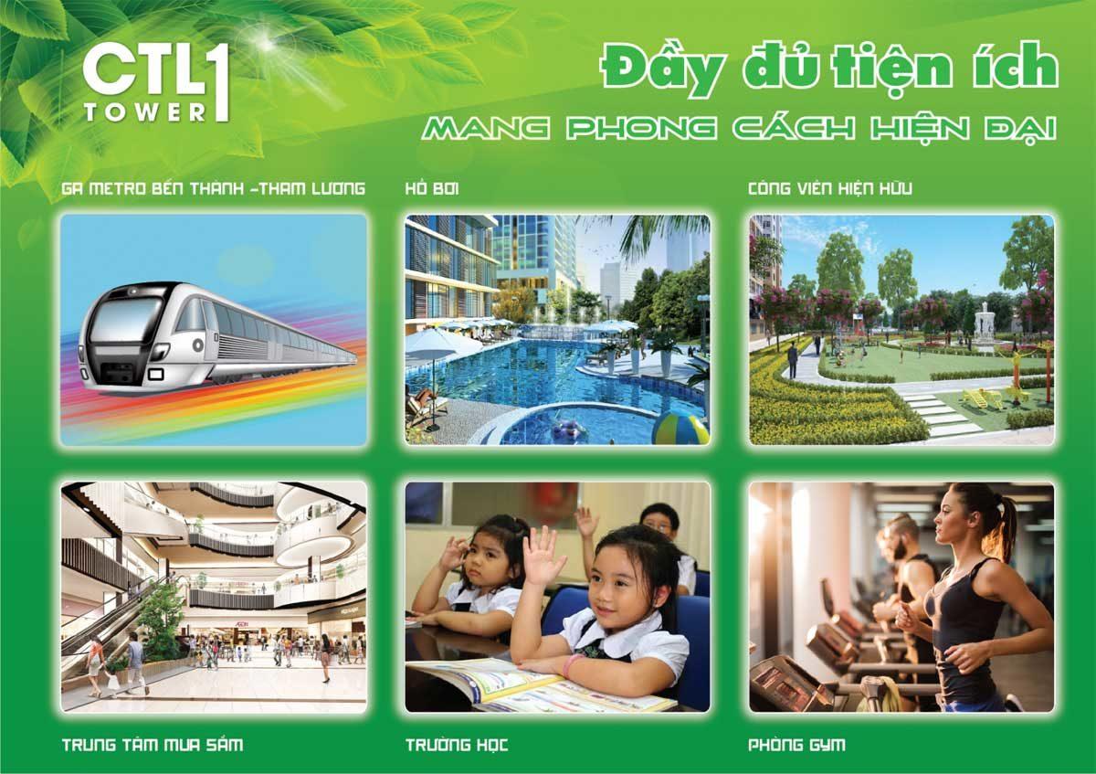 Tiện ích Dự án Căn hộ CTL Tower Tham Lương