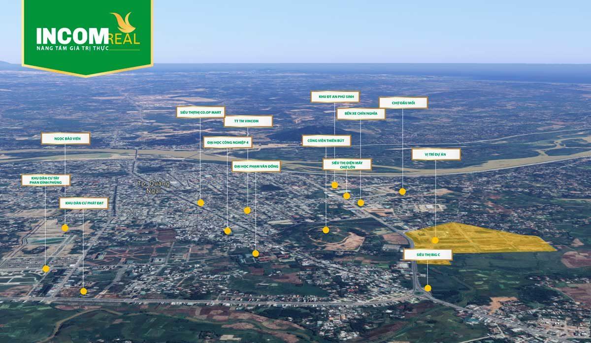 Tiện ích kết nối khu vực Vị trí Dự án Khu đô thị Phú Mỹ Quảng Ngãi