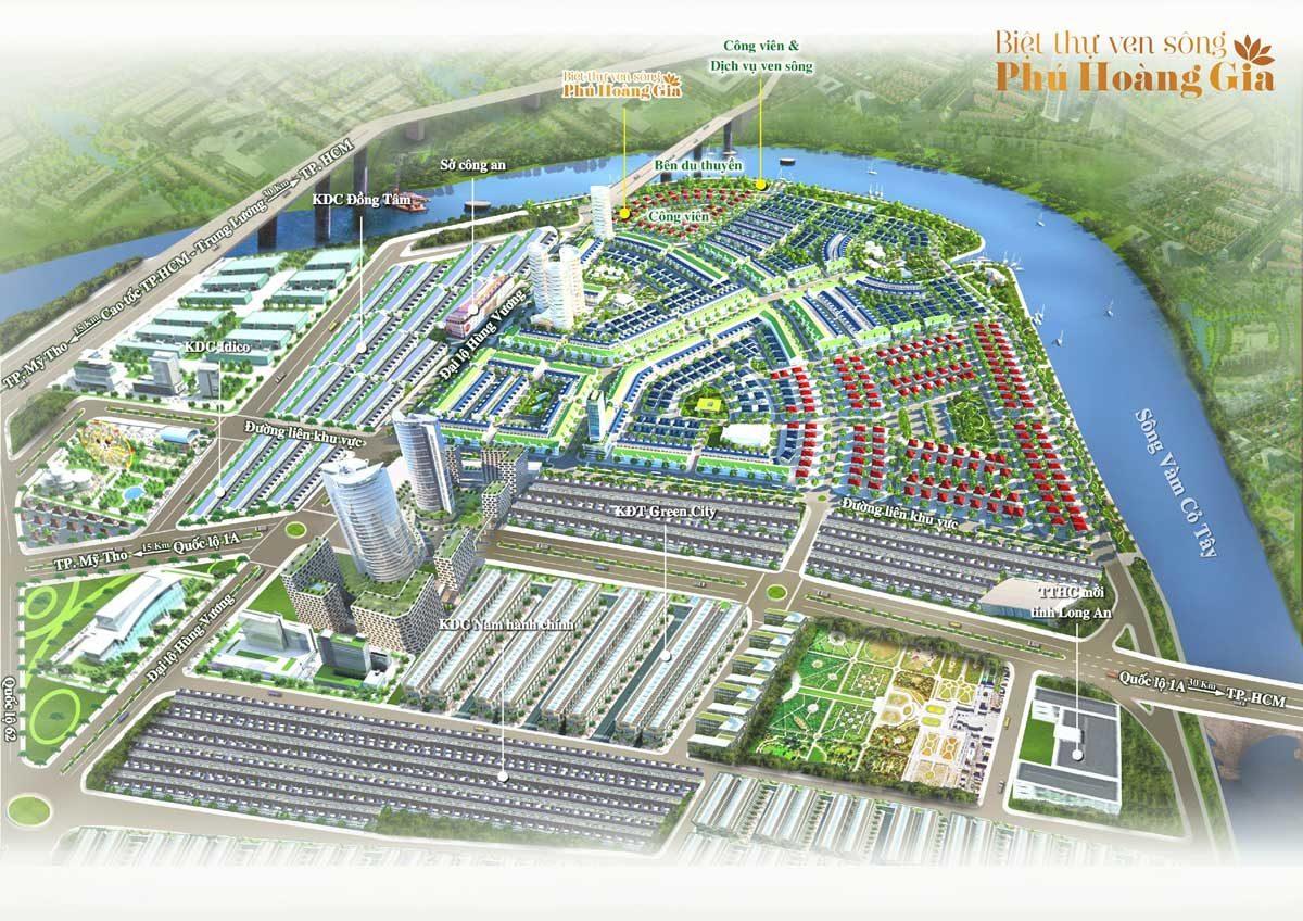 Tổng thể Dự án Biệt thự ven sông Phú Hoàng Gia