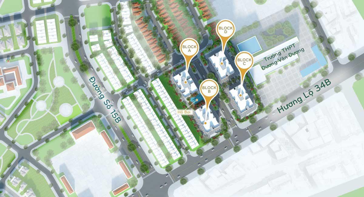 Mặt bằng Tổng thể Dự án Căn hộ Orchid Park Nhà Bè