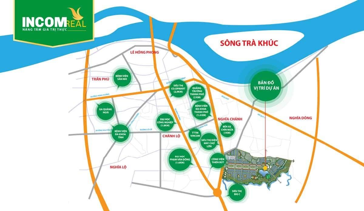 Vị trí Dự án Khu đô thị Phú Mỹ Quảng Ngãi