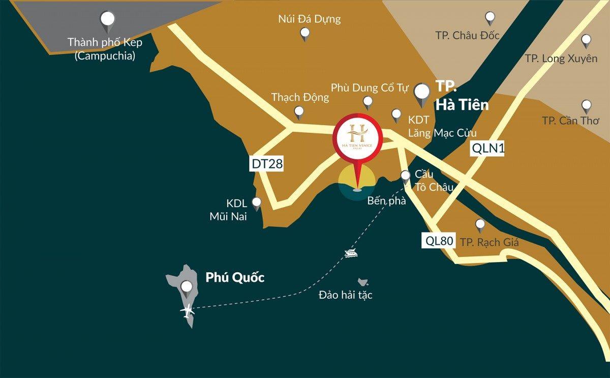 Vị trí Dự án Ha Tien Venice Villas