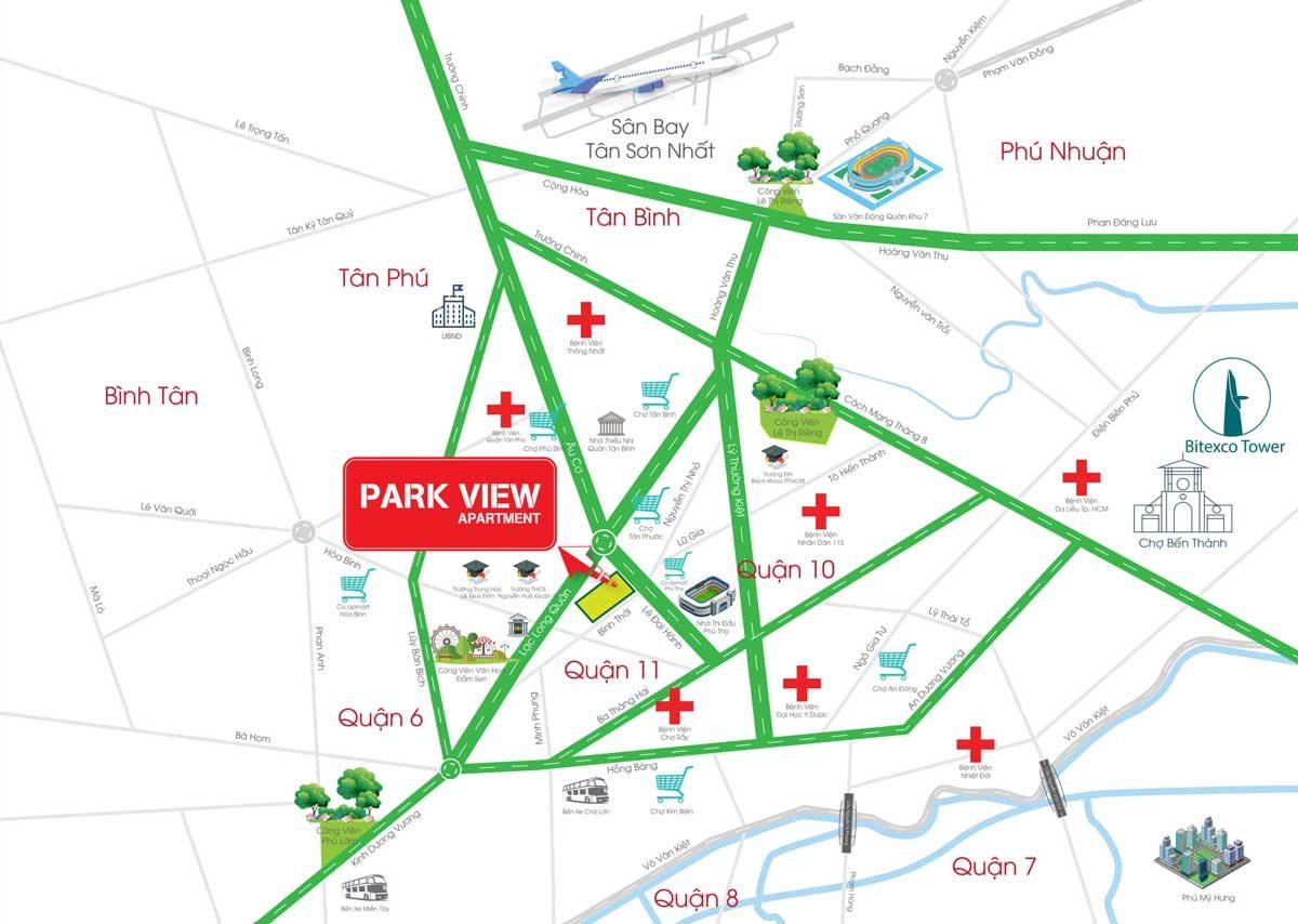 Vị trí Dự án Căn hộ Chung cư Park View Apartment Quận 11