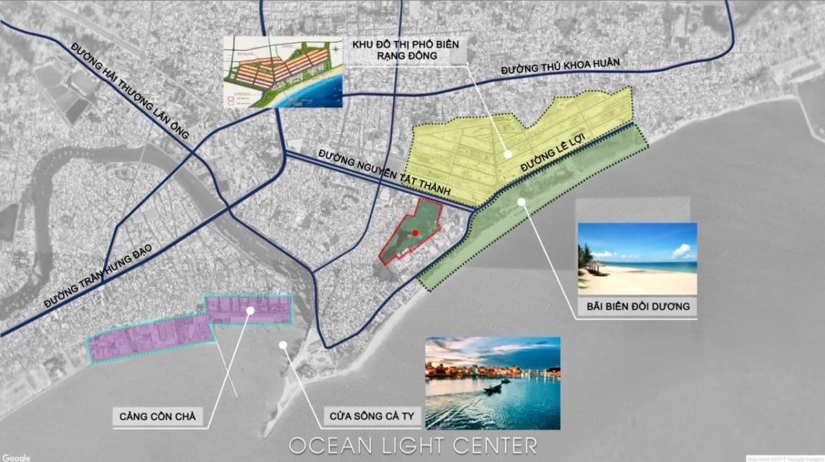 Vị trí Liên kết vùng Dự án Ocean Light Center Phan Thiết