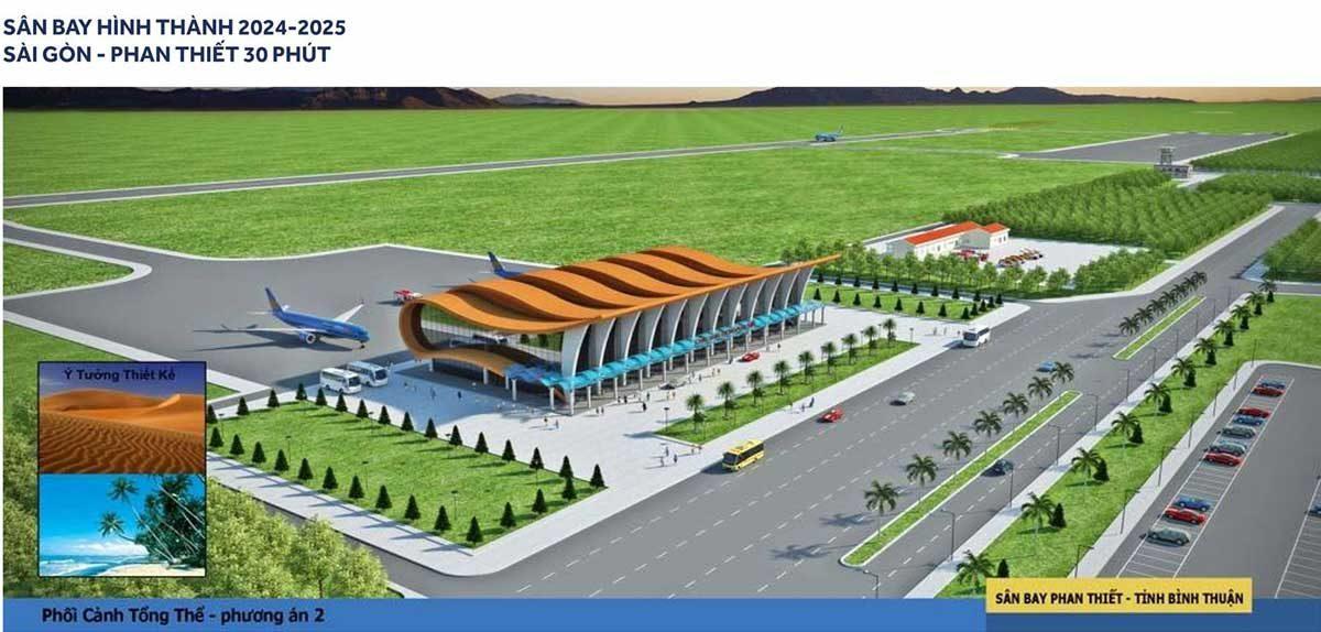 Dự án mở rộng sân bay Phan Thiết với tổng vốn đầu tư lên đến 10.000 tỷ