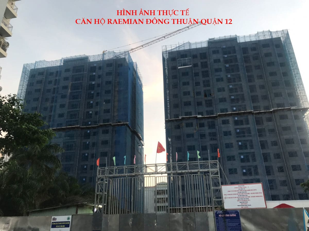 Hình ảnh thực tế Dự án Căn hộ Raemian Đông Thuận Quận 12