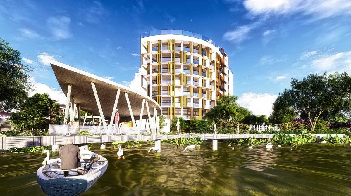 Khách sạn - Nhà hàng Thủy Tạ tại Bac LieuRiverside Commercial Zone