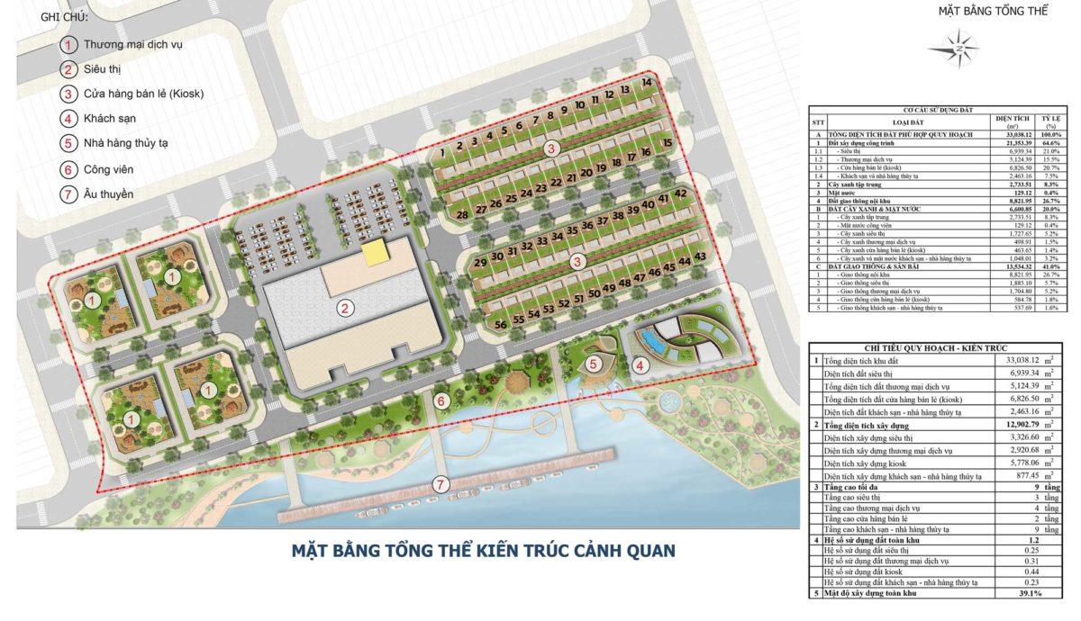 Mặt bằng Tổng thể Dự án Bac Lieu Riverside Commercial Zone