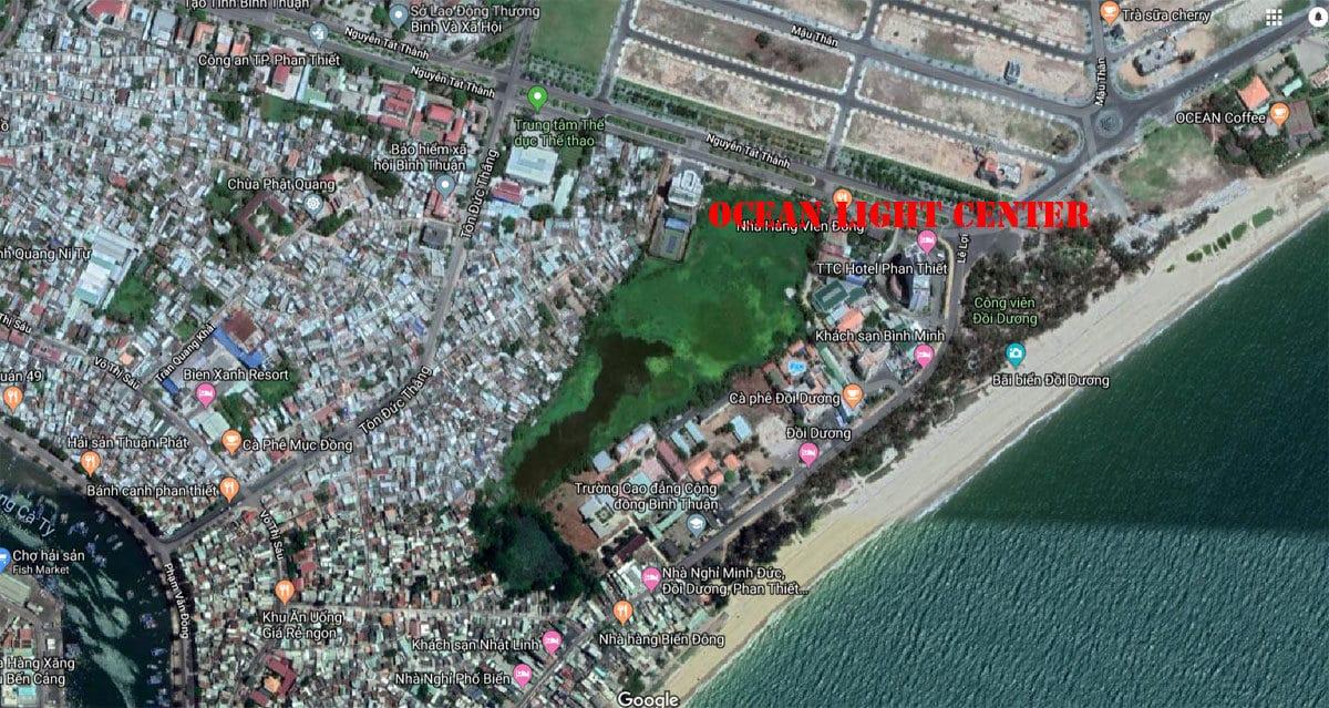 Vị trí Dự án Ocean Light Center Phan Thiết