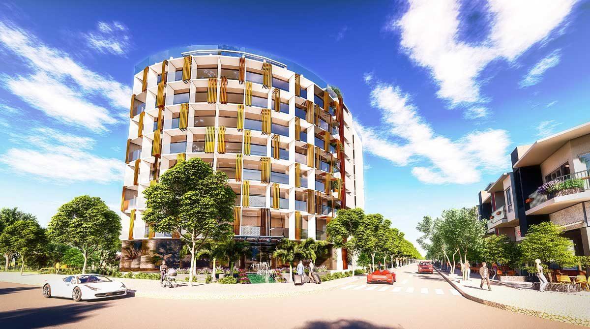Phối cảnh Nhà hàng - Khách sạn Bac LieuRiverside Commercial Zone