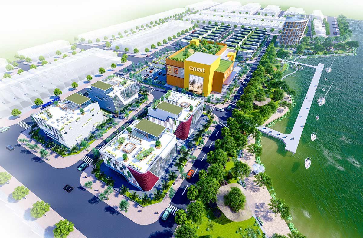 Phối cảnh Tổng thể Bac Lieu Riverside Commercial Zone
