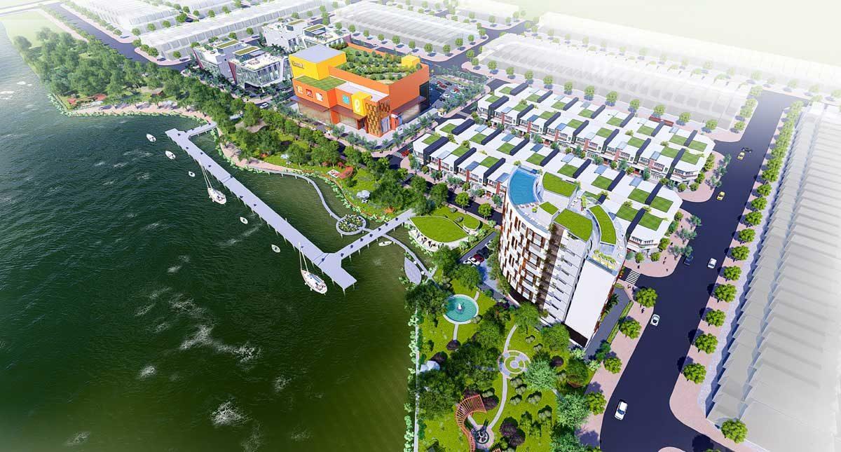 phoi canh tong the khach san nha hang bac lieu riverside - DỰ ÁN BẠC LIÊU RIVERSIDE COMMERCIAL ZONE