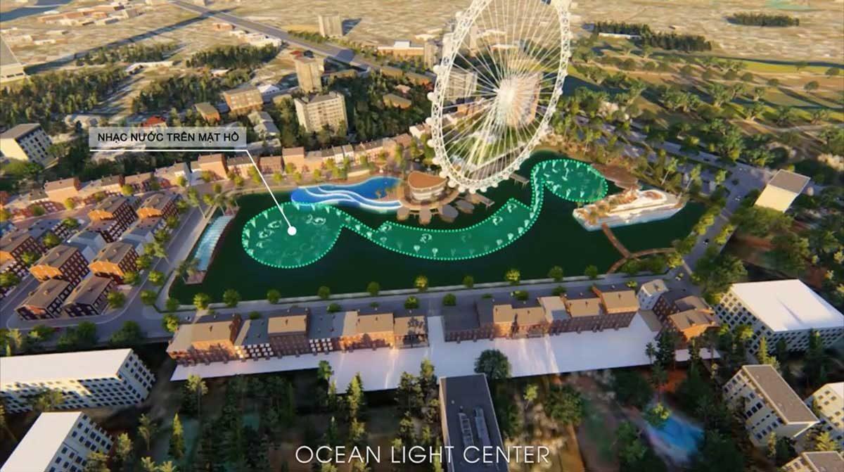 Tiện ích nhạc nước trên hồ Dự án Ocean Light Center Phan Thiết