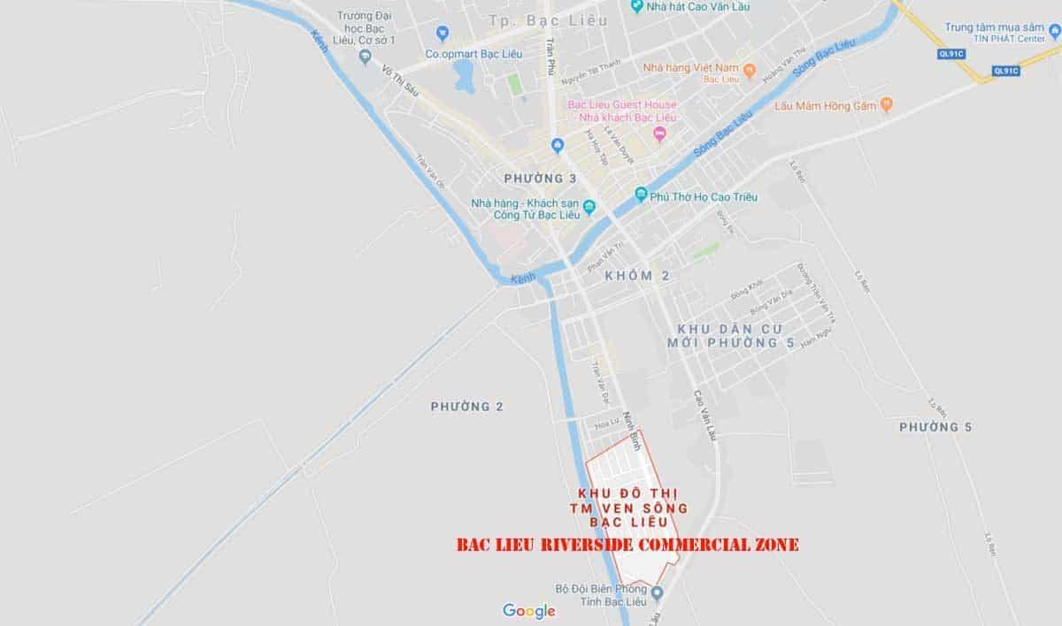 Vị trí Bac LieuRiverside Commercial Zone