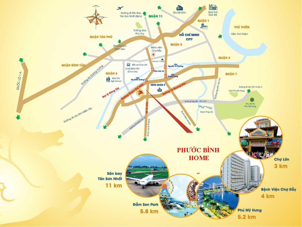 Vị trí Dự án Nhà phố - Biệt thự Phước Bình Home