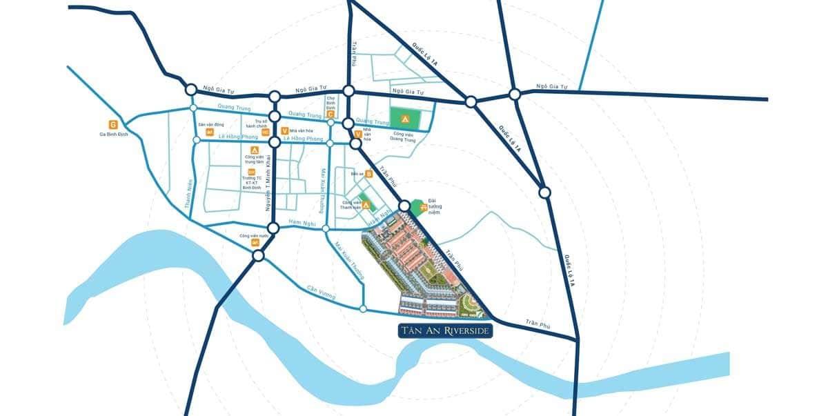 Vị trí Dự án Tân An Riverside Bình Định