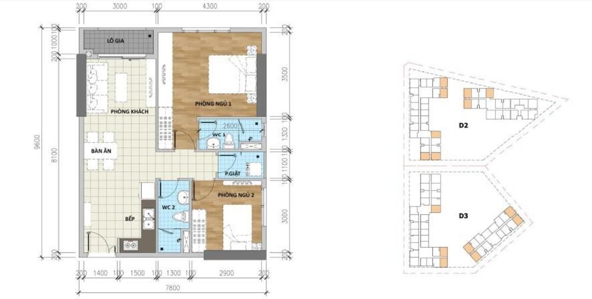 Thiết kế căn hộ B4 Aio Bình Tân