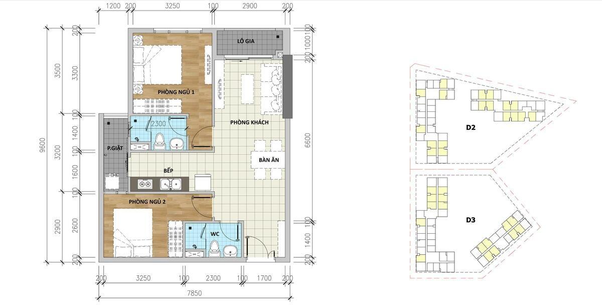 Mẫu căn hộ B1 Aio Bình Tân