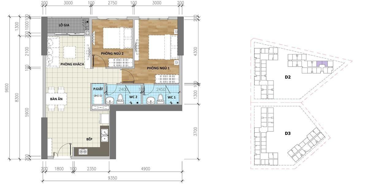 Mẫu căn hộ B2 Aio Bình Tân - DỰ ÁN CĂN HỘ AIO CITY BÌNH TÂN