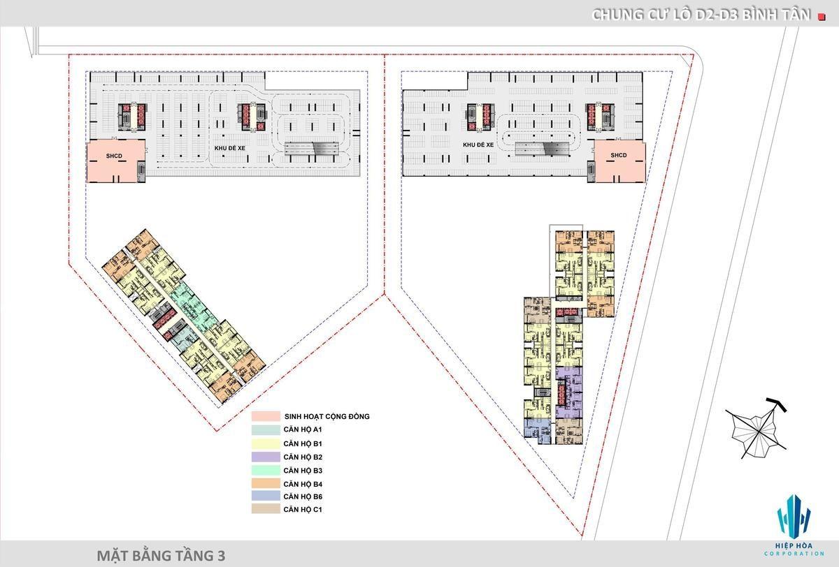 Mặt bằng Tầng 3 Dự án Aio City - DỰ ÁN CĂN HỘ AIO CITY BÌNH TÂN