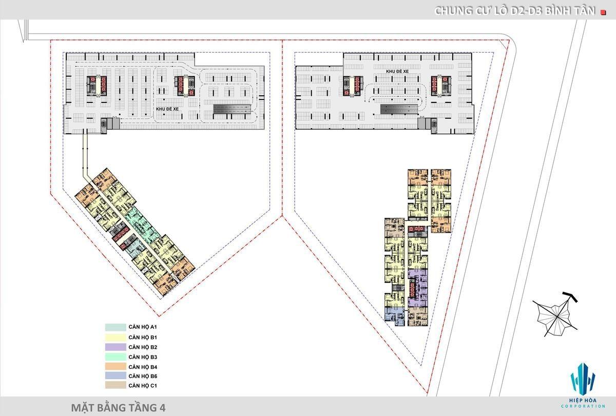 Mặt bằng Tầng 4 dự án Aio Bình Tân