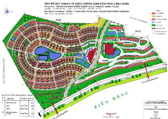 bảng đồ quy hoạch monaco hill - DỰ ÁN ĐẤT NỀN MONACO HILL MŨI NÉ PHAN THIẾT