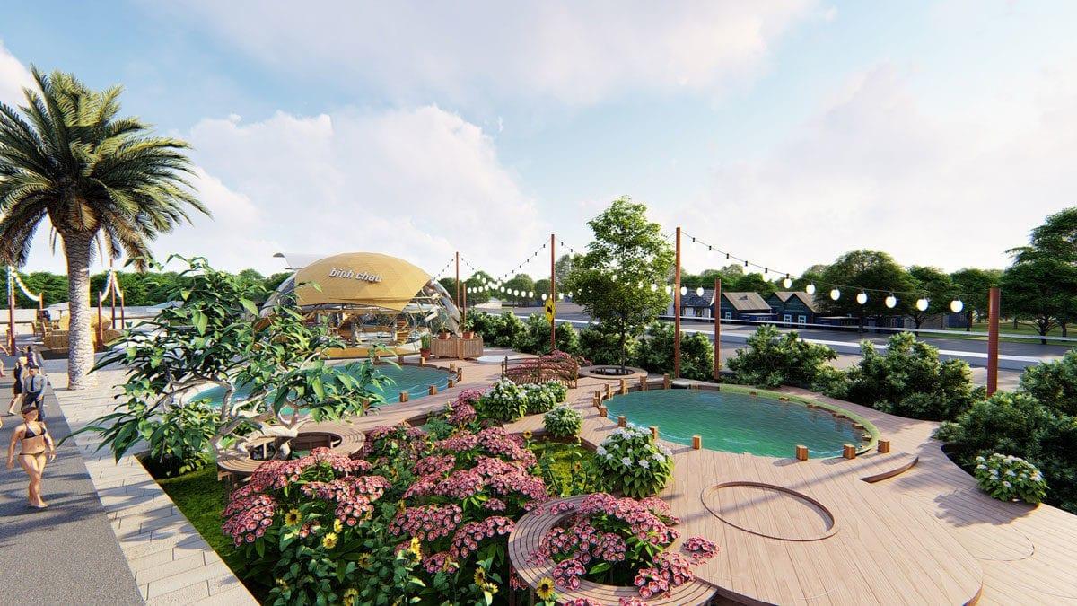 Khu công viên nội khu Dự án SeaMall Bình Châu