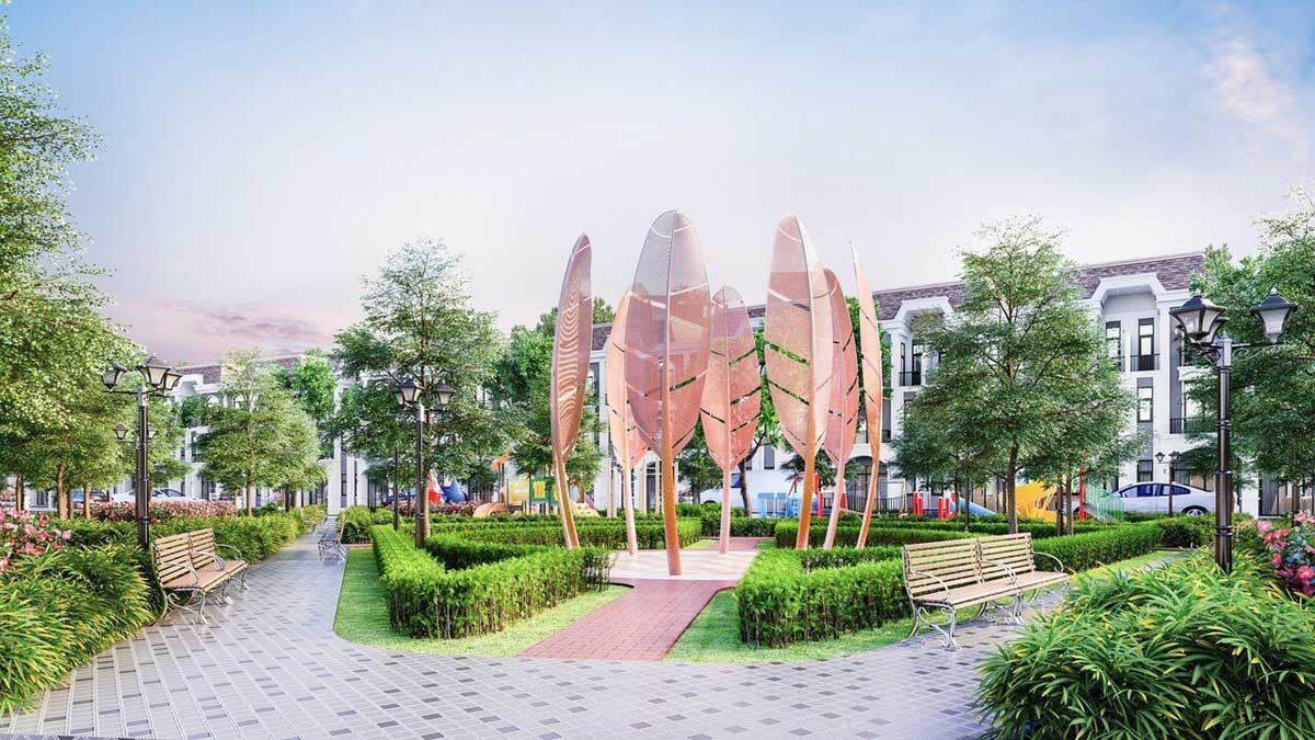 cong vien noi khu du an lavilla green city - DỰ ÁN LAVILLA GREEN CITY LONG AN