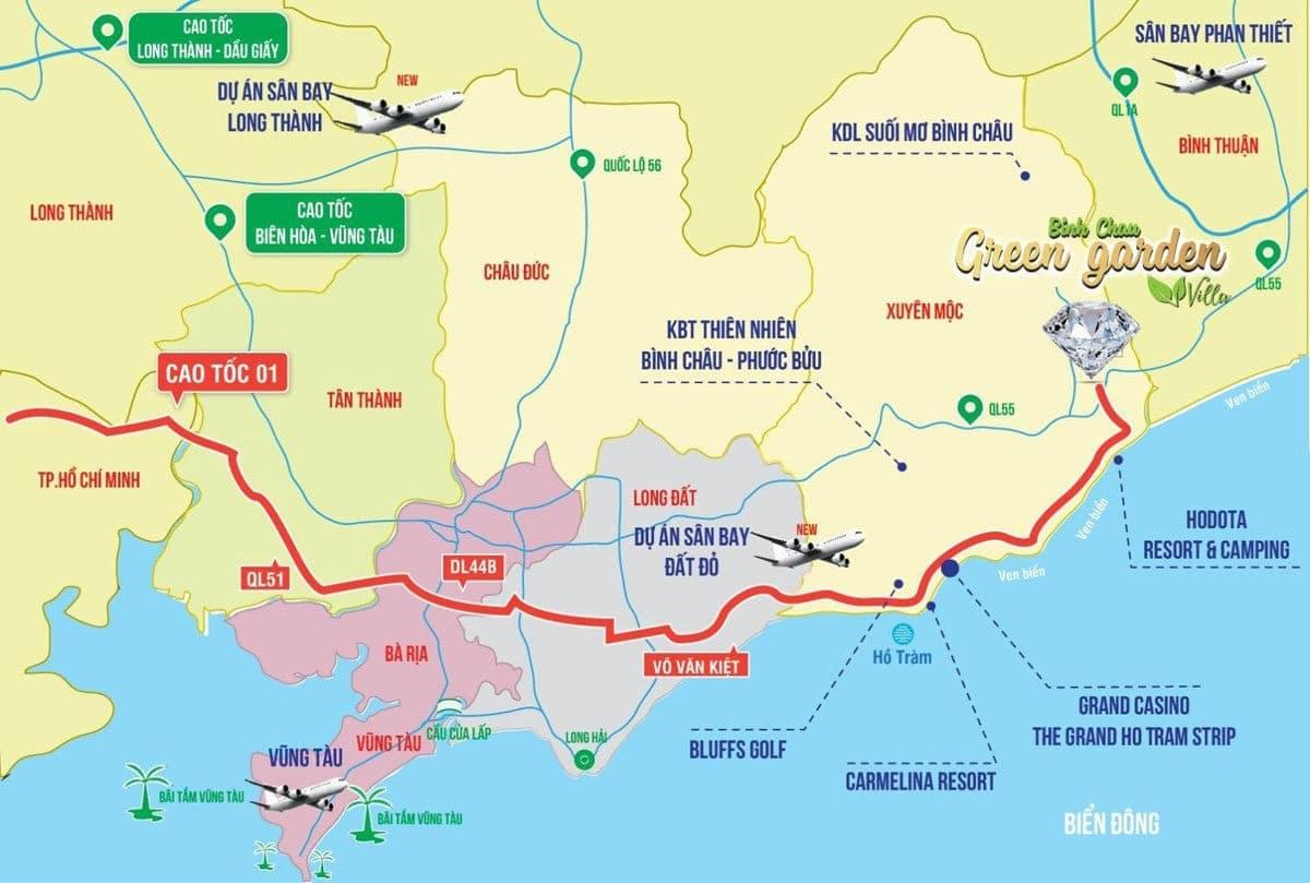 Hạ tầng giao thông tại khu vực Dự Án Khu Đô Thị SeaMall Bình Châu