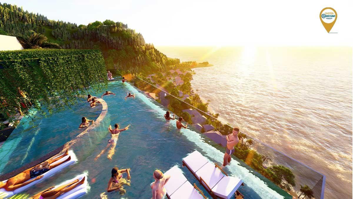 Hồ bơi chân mây Căn hộ Condotel Oyster Gành Hào Vũng Tàu