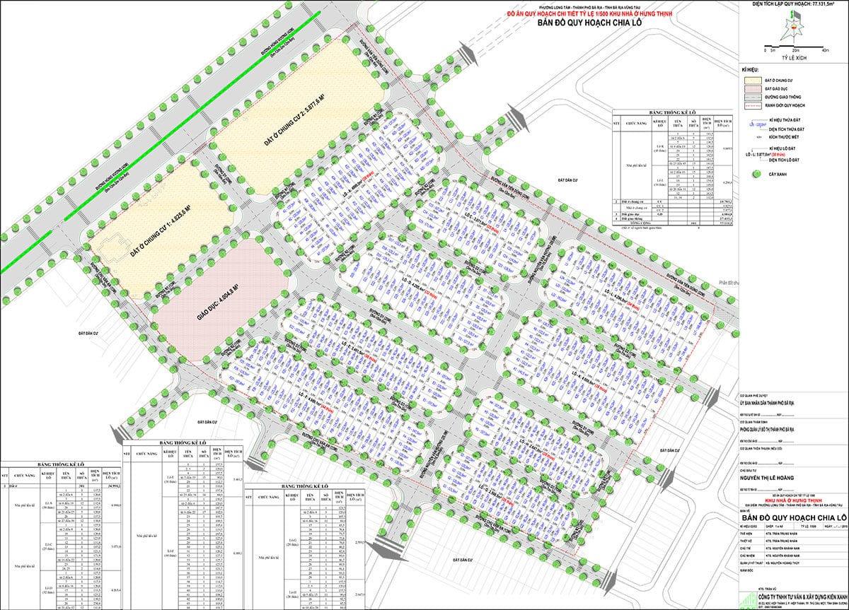 Bản đồ huy hoạch phân lô Dự án Baria Residence